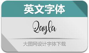 Qayla(英文字体)