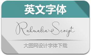 RahmaliaScript(英文字体)