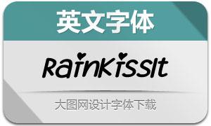 RainKiss-Italic(英文字体)