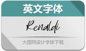 Renaldi(英文字体)