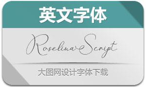 RoselinaScript(英文字体)