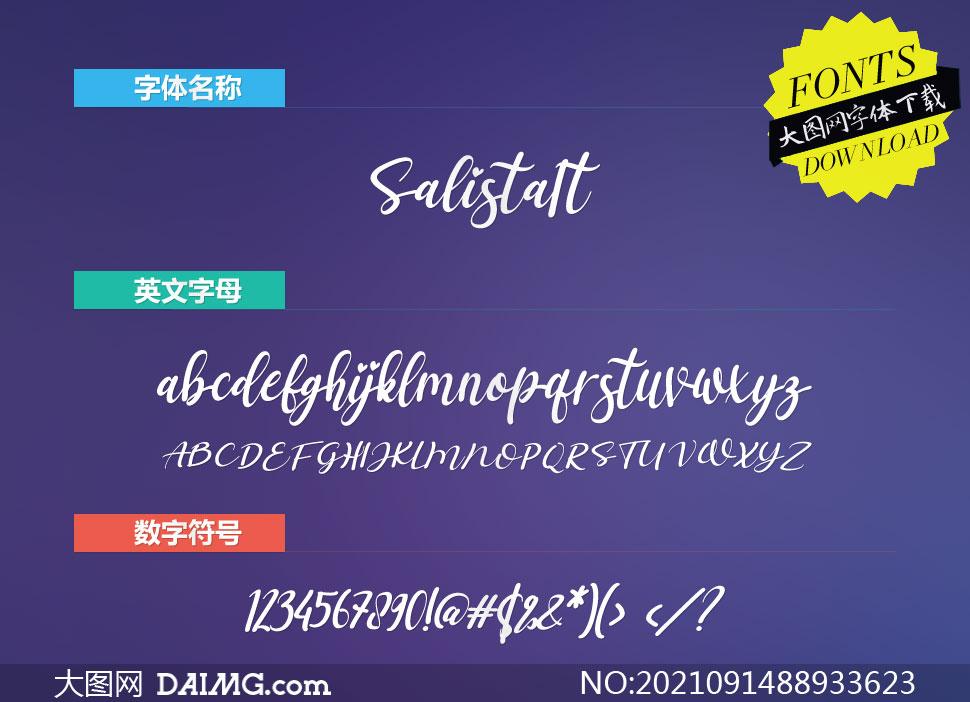 Salista-Italic(英文字体)