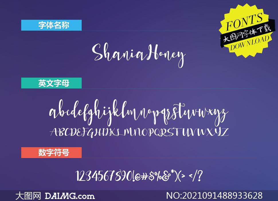 ShaniaHoney(英文字体)