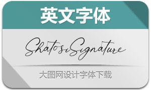 ShatosiSignature(英文字體)