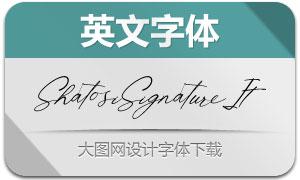 ShatosiSignature-Italic(英文字体)