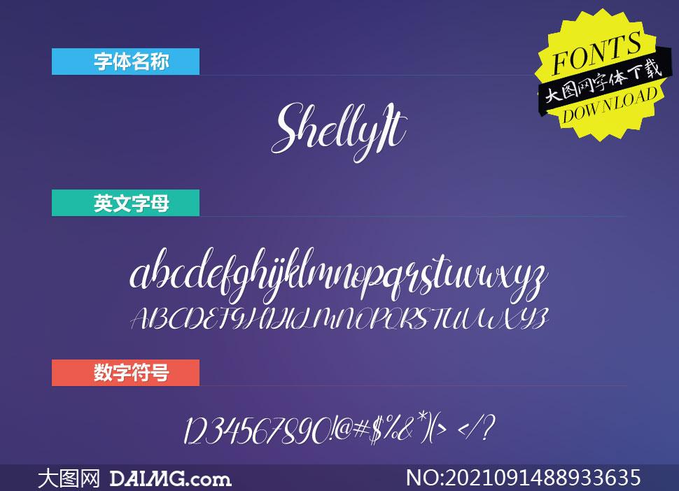 Shelly-Italic(英文字体)