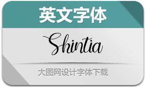 Shintia(英文字體)
