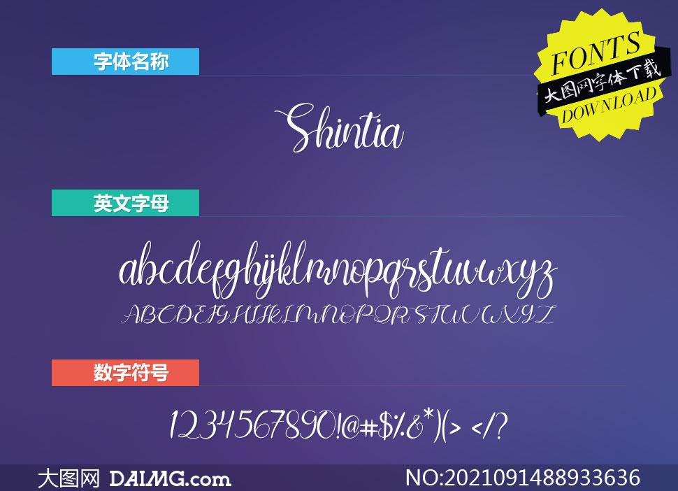 Shintia(英文字体)