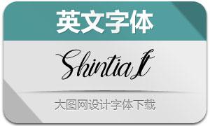 Shintia-Italic(英文字體)