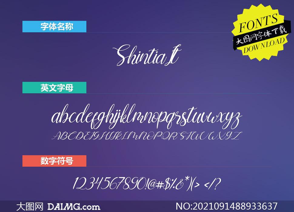 Shintia-Italic(英文字体)