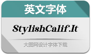 StylishCalifornia-Italic(英文字體)