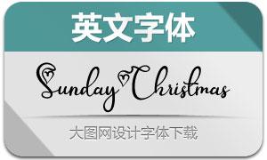 SundayChristmas(英文字体)
