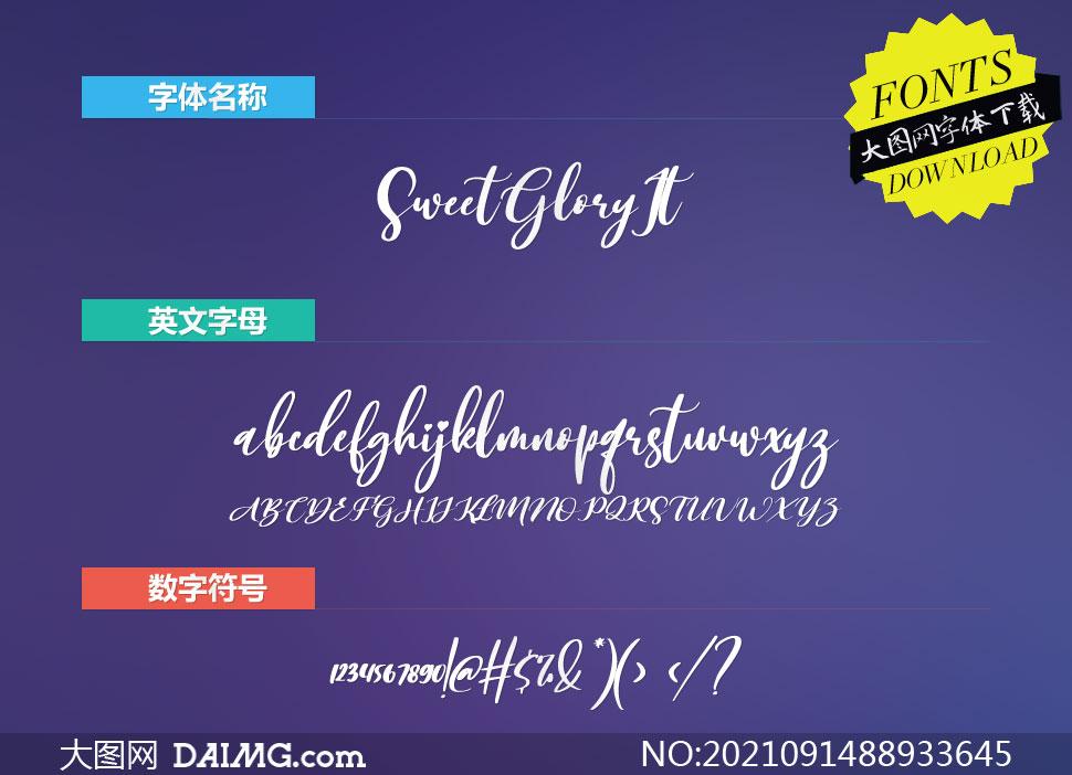 SweetGlory-Italic(英文字体)