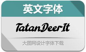TatanDeer-Italic(英文字体)