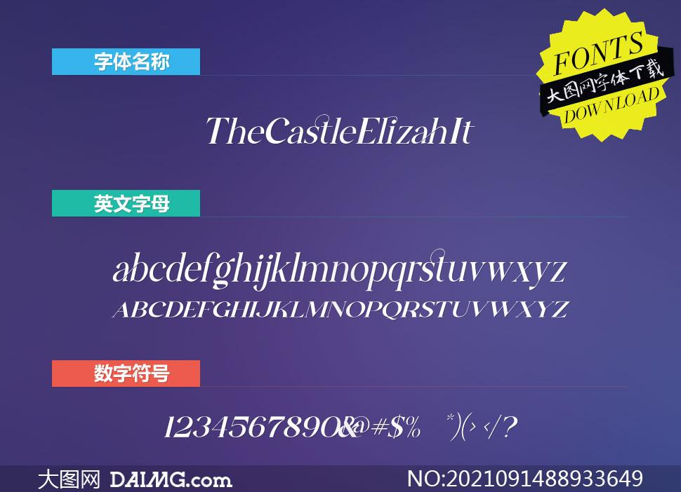 TheCastleElizah-Italic(英文字体)
