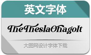 TheTheslaOhago-Italic(英文字体)
