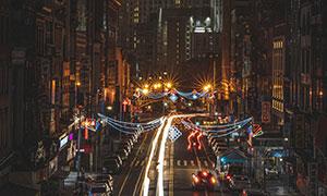 城市建筑景观繁华夜景摄影高清图片