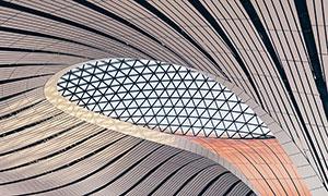 几何图形建筑设计内景摄影高清图片