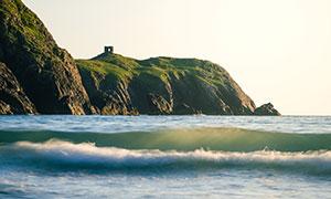 高山大海浪花自然风光摄影高清图片