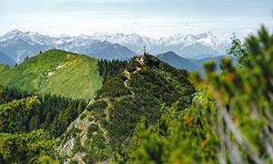 远近各不同的大山风光摄影高清图片
