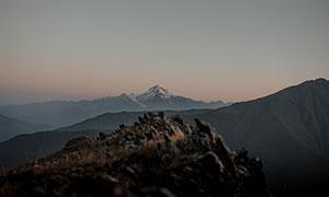 连绵起伏崇山峻岭风光摄影高清图片