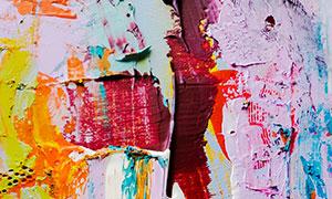 多彩繪畫顏料主題藝術背景高清圖片