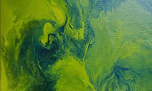 綠色顏料涂鴉繪畫創意設計高清圖片
