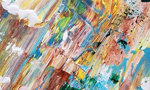 多彩顏料涂鴉繪畫作品創意高清圖片