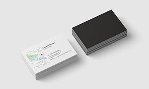商務名片設計模板分層素材集合V201