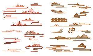 中国风传统云纹设计元素矢量素材V2