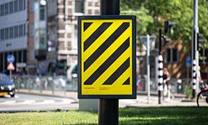 城市道路街景戶外廣告樣機模板素材