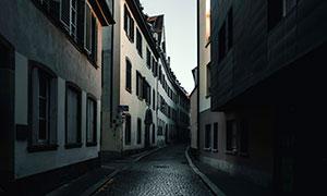 城市建筑物与小巷风光摄影高清图片