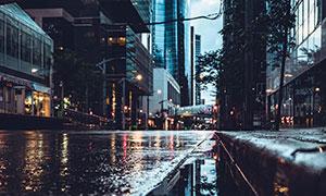 一场雨过后的城市风光摄影高清图片