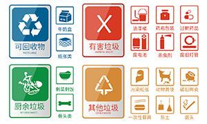 城市垃圾分類標識設計矢量素材