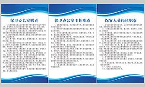 企業保衛科保衛工作制度板矢量素材