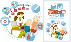 全国高血压日宣传海报PSD源文件