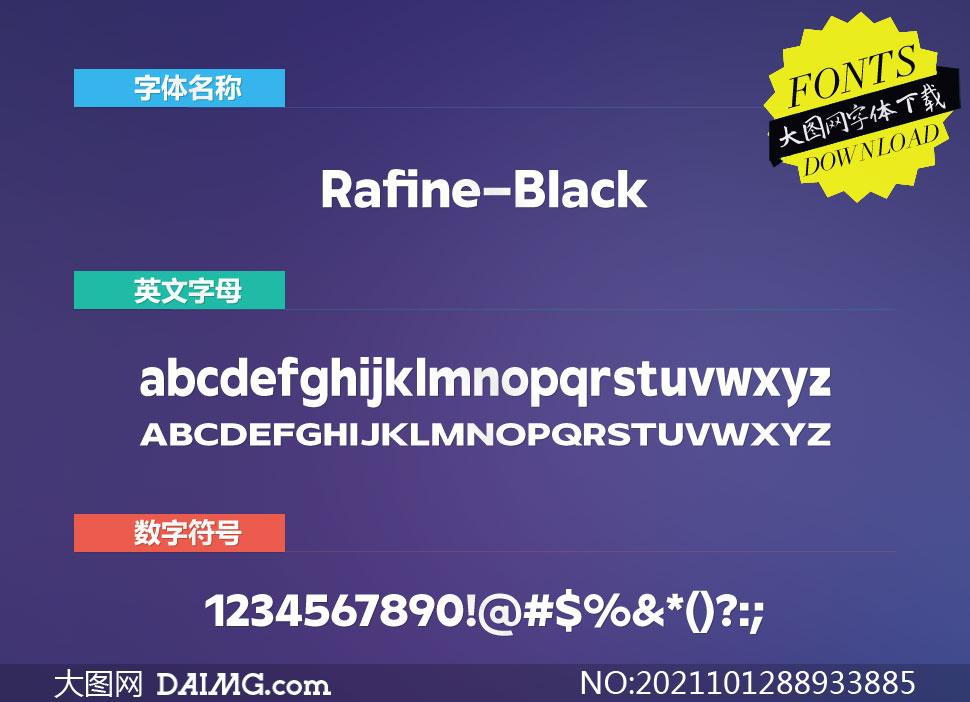 Rafine-Black(英文字体)
