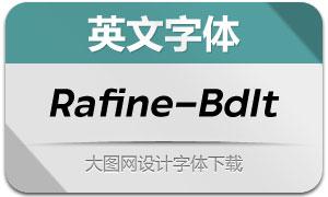 Rafine-BoldItalic(英文字体)