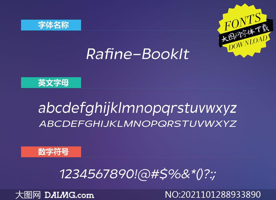 Rafine-BookItalic(英文字体)