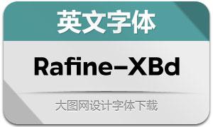 Rafine-Extrabold(英文字体)