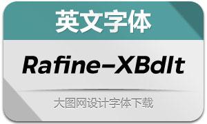 Rafine-ExtraboldItalic(英文字体)