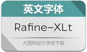 Rafine-Extralight(英文字体)