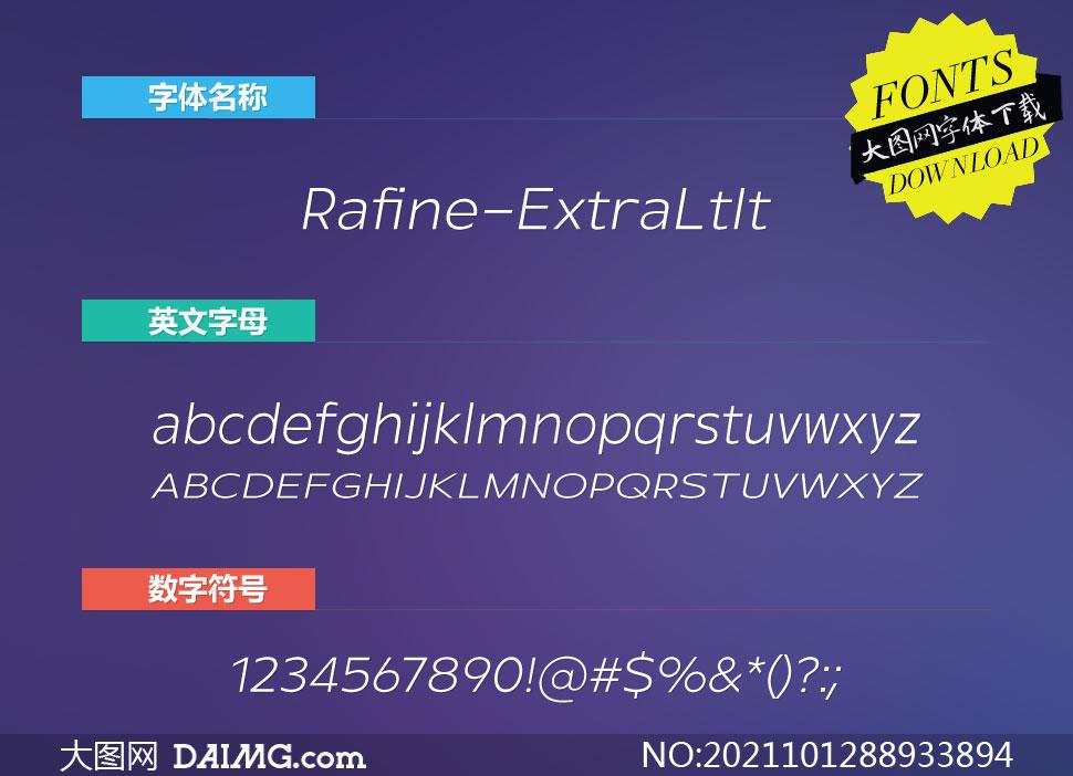 Rafine-ExtralightItalic(英文字体)