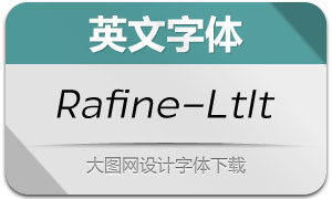 Rafine-LightItalic(英文字体)