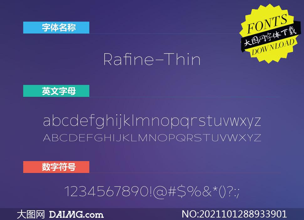 Rafine-Thin(英文字体)