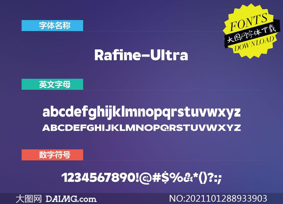 Rafine-Ultra(英文字体)