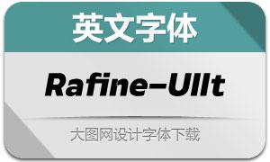 Rafine-UltraItalic(英文字体)