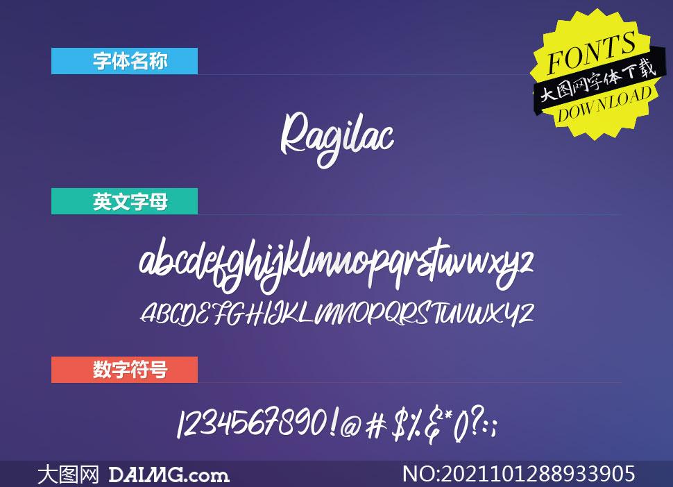 Ragilac(英文字体)