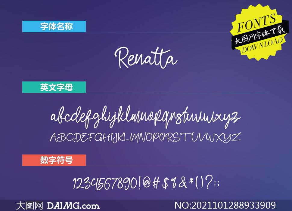 Renatta(英文字体)