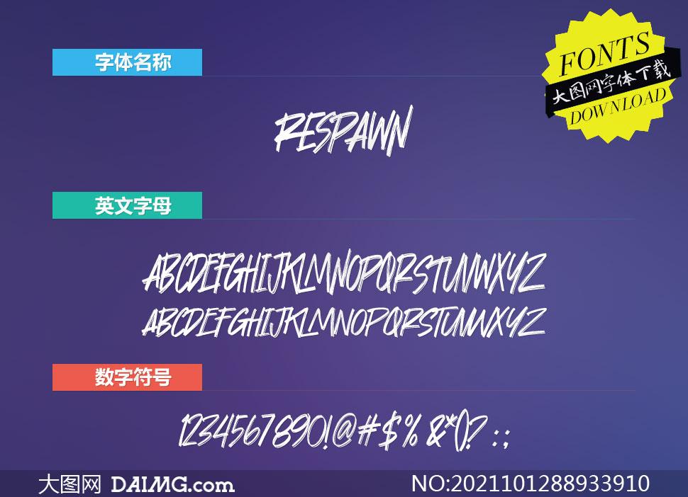 Respawn(英文字体)